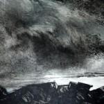 rochers à marée basse-monotype-20/30cm