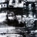 maison de pêcheur-monotype encre-12/18cm