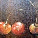 cerises-aquarelle brou de noix-5/8cm