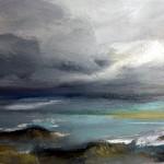 ciel d'orage-huile sur papier