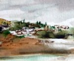 village-aquarelle-4/12cm